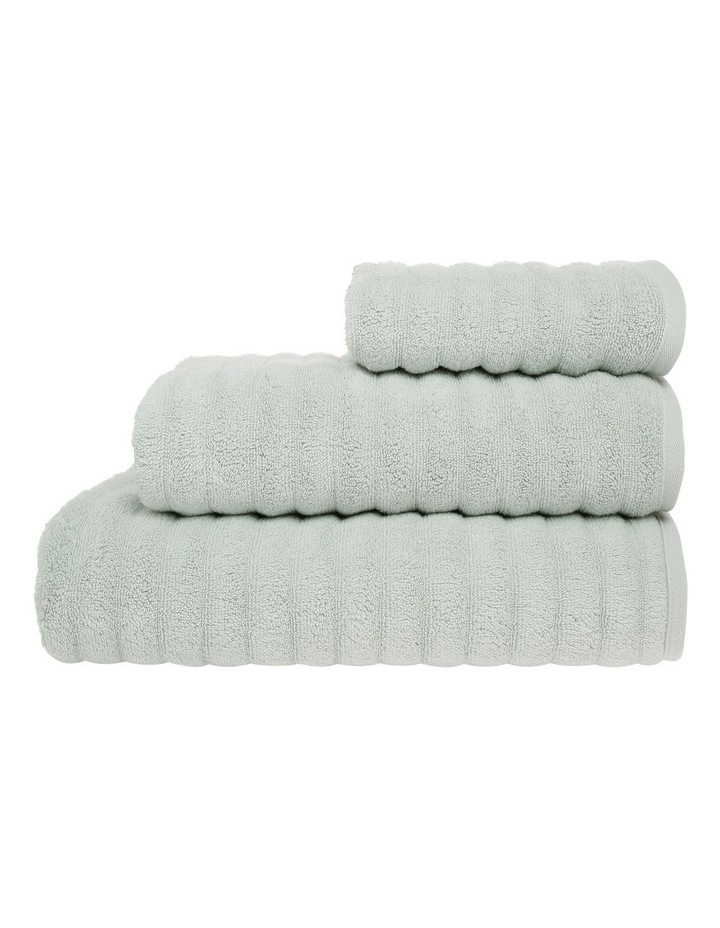 Gambier Ribbed Cotton Towel Range in Light Green image 1