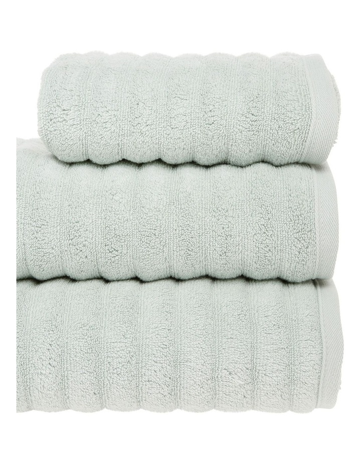 Gambier Ribbed Cotton Towel Range in Light Green image 2