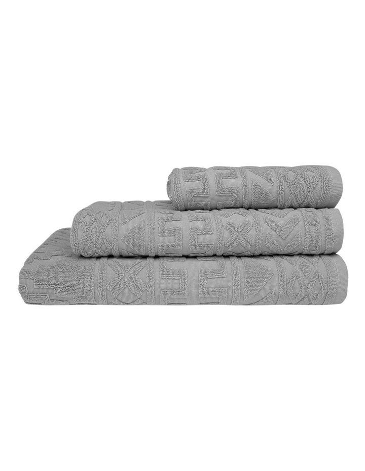 Honolulu Jacquard Cotton Towel Range in Grey image 1