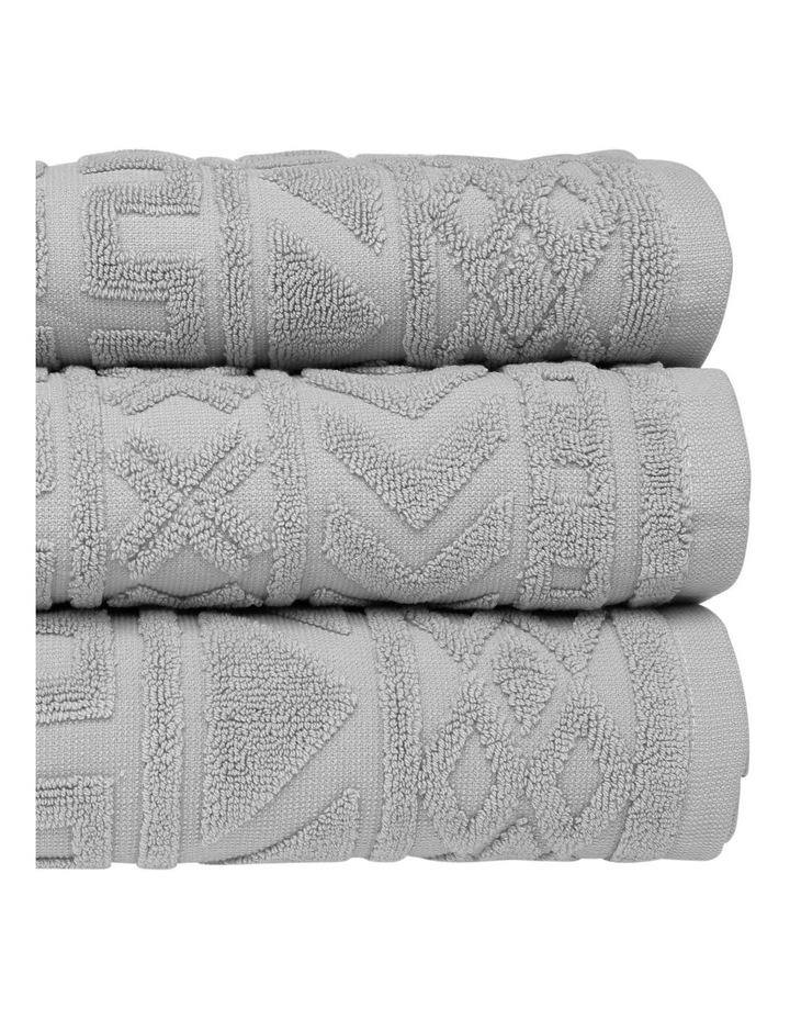 Honolulu Jacquard Cotton Towel Range in Grey image 2