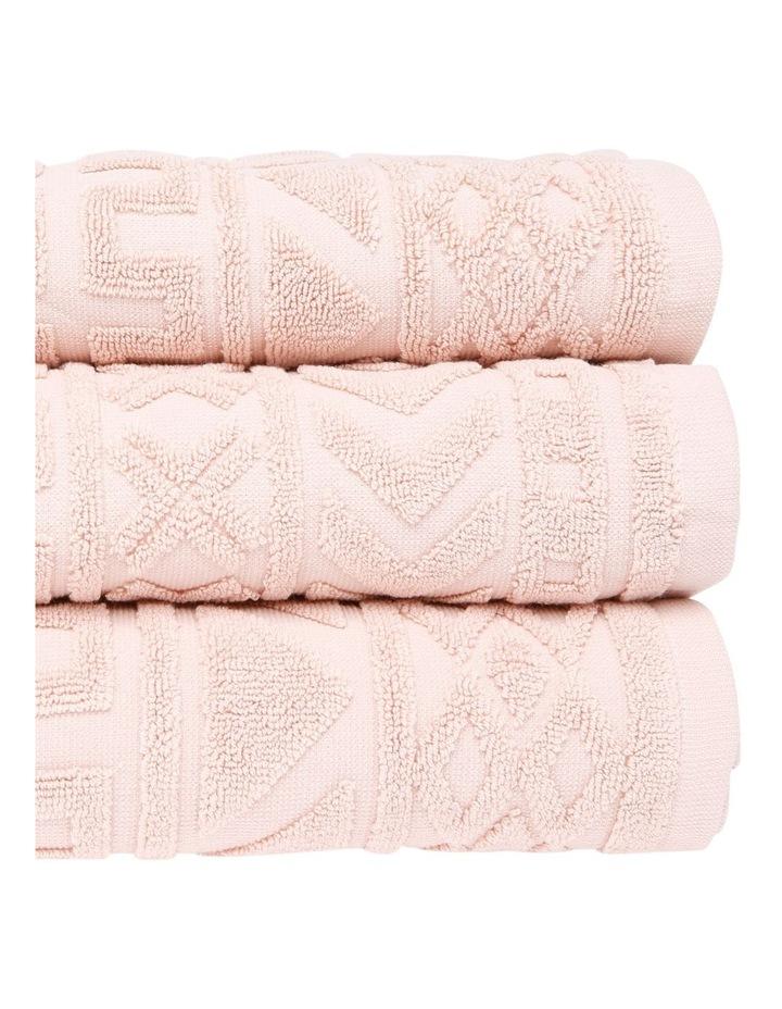 Honolulu Jacquard Cotton Towel Range in Rose image 2