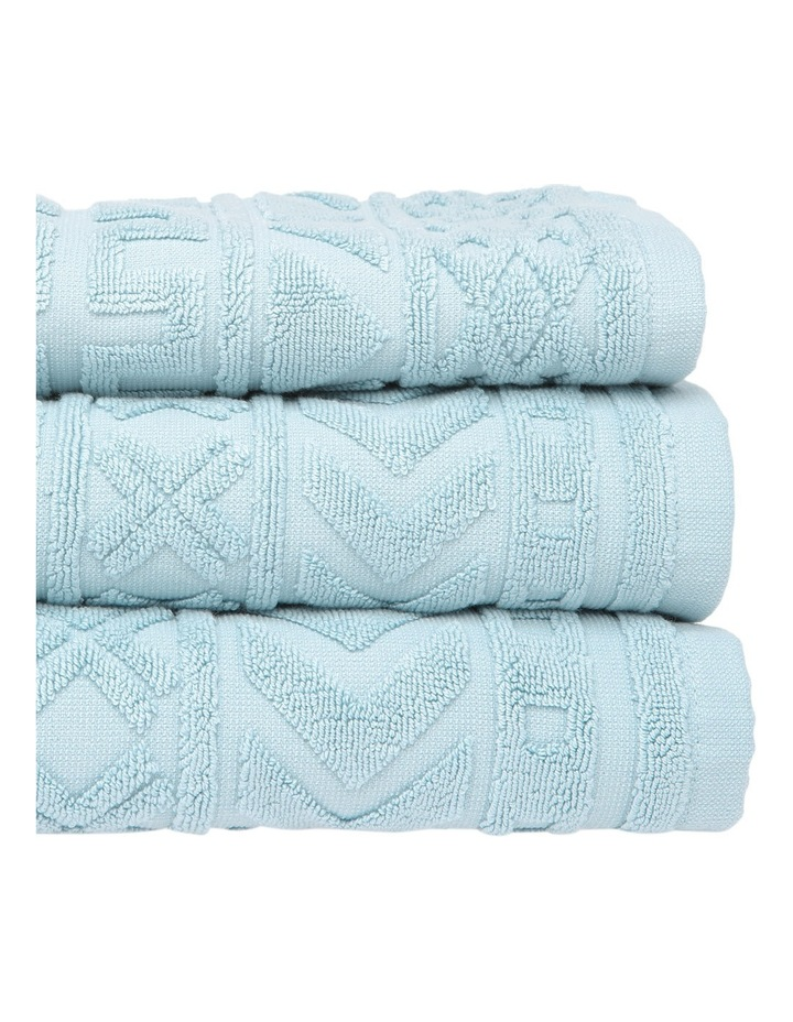 Honolulu Jacquard Cotton Towel Range in Blue image 2