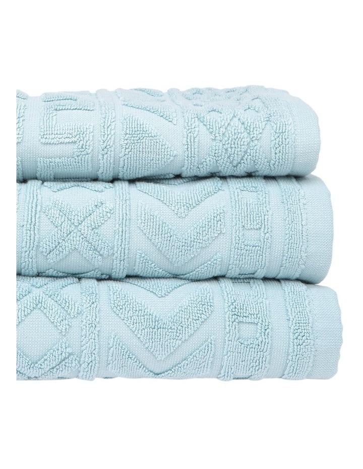 Honolulu Jacquard Cotton Towel Range in Blue image 2