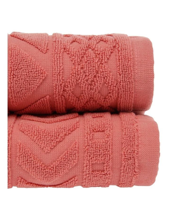 Honolulu Jacquard Cotton Towel Range in Burnt Sienna image 2