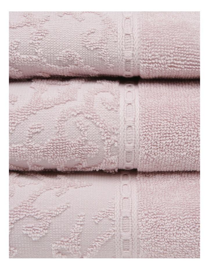 Marais Damask Cotton Towel Range in Rose Smoke image 2