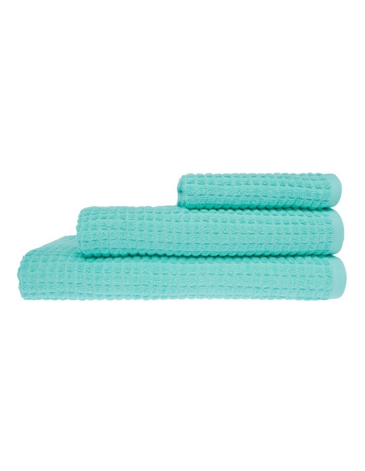 Vue Denver Micro Check Towel Range in Mint image 1