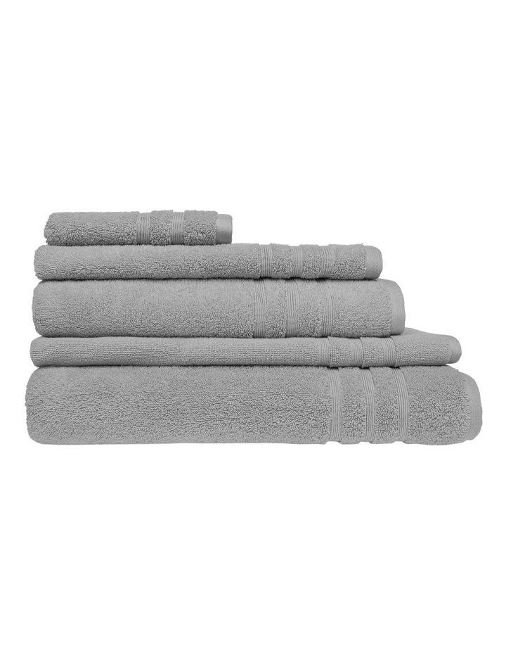 Luxury Turkish Cotton Towel Range in Silver image 1
