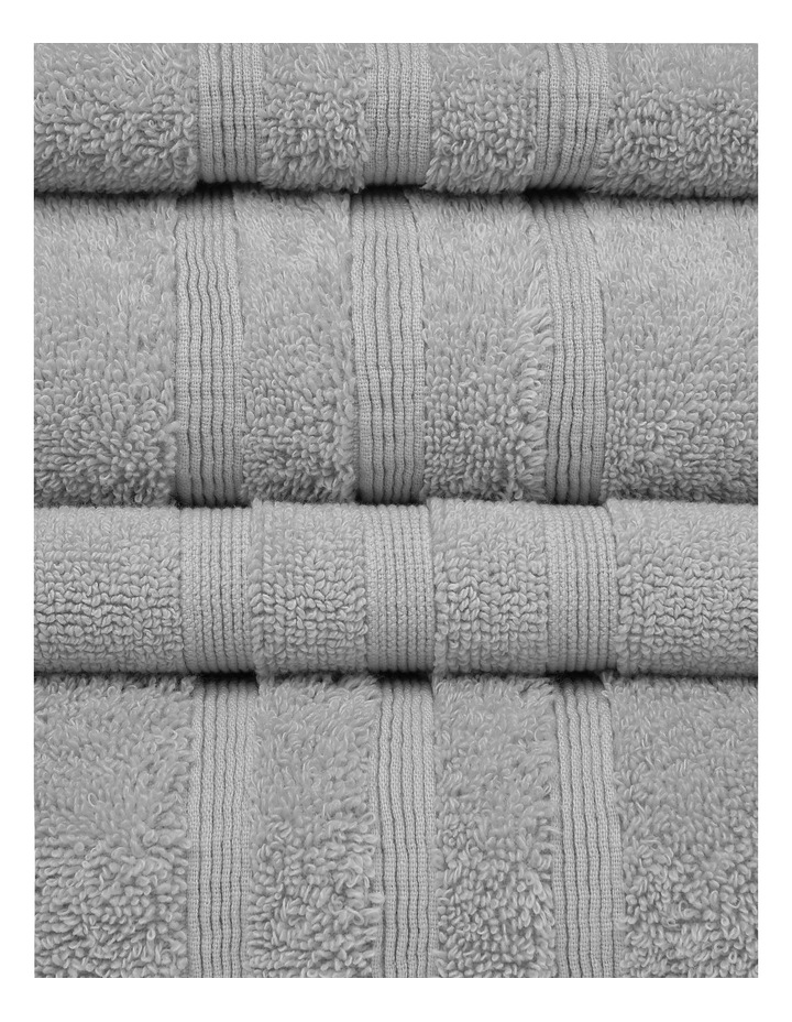 Luxury Turkish Cotton Towel Range in Silver image 2