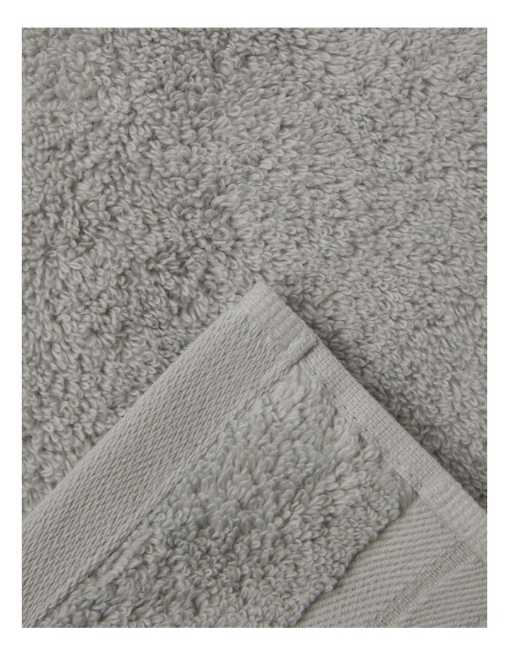 Essential Quick-Dry Towel Range in Silver image 1