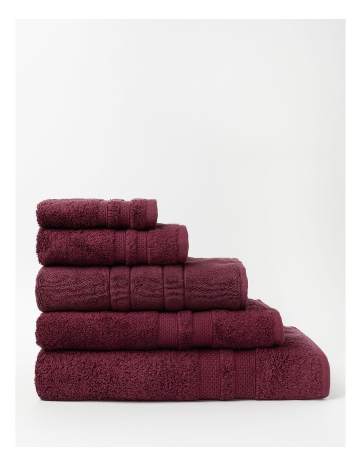 Premium Egyptian Cotton Towel Range in Berry image 1