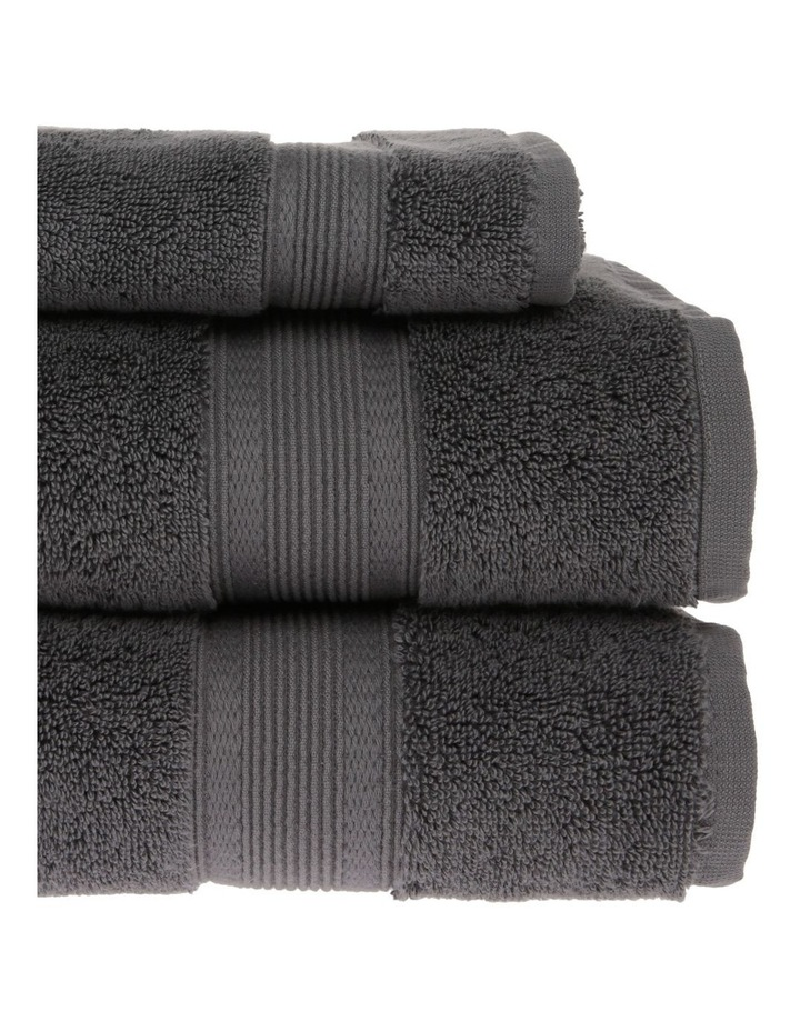 Luxury Turkish Cotton Towel Range in Charcoal image 2