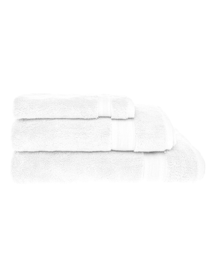 Luxury Turkish Cotton Towel Range in White image 1
