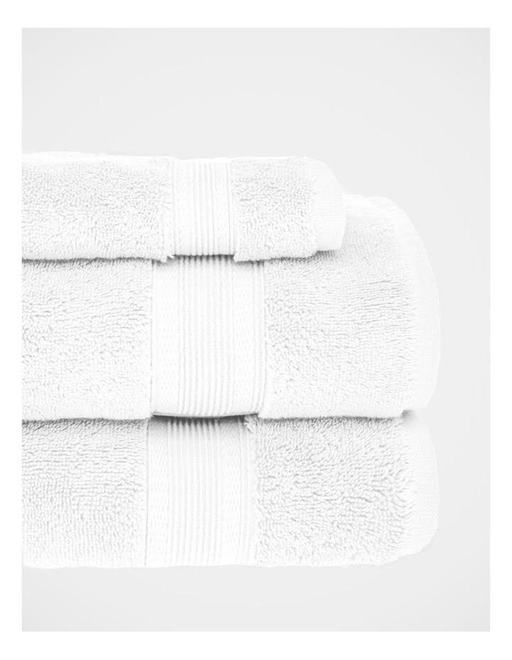 Luxury Turkish Cotton Towel Range in White image 3