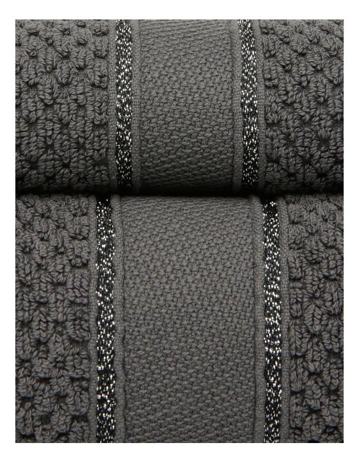 Esperance Lattice Towel Range in Coal image 2