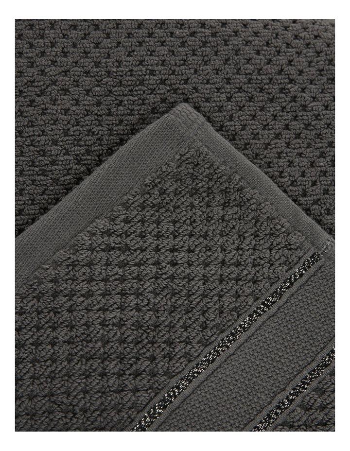Esperance Lattice Towel Range in Coal image 3