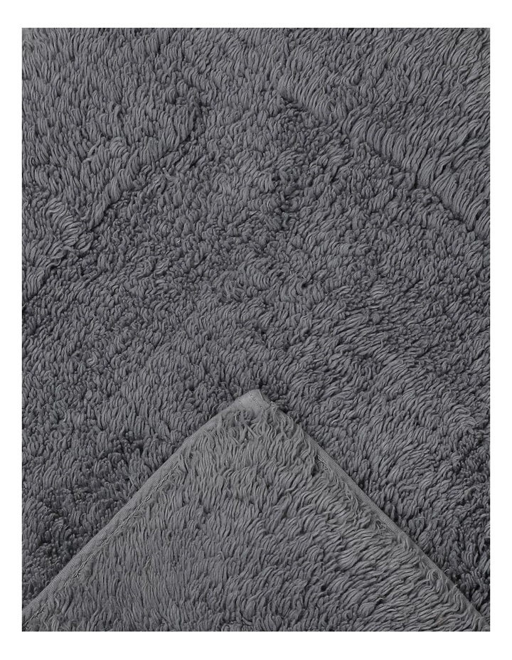 Canterbury Bath Mat in Grey image 2