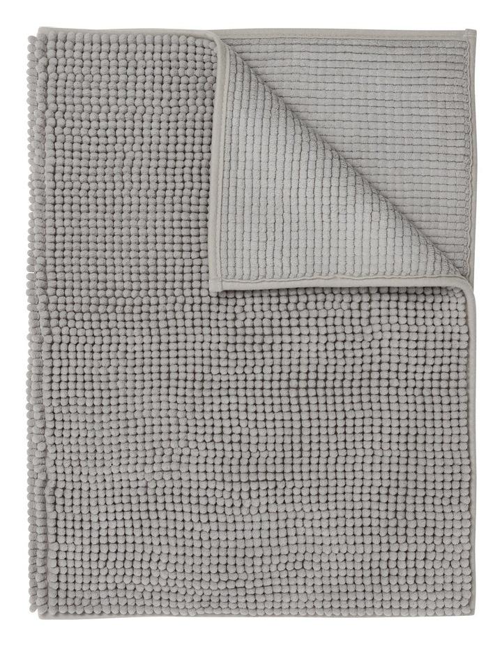 Hampton Super Soft Microfibre Range Bath Mat in Silver image 1