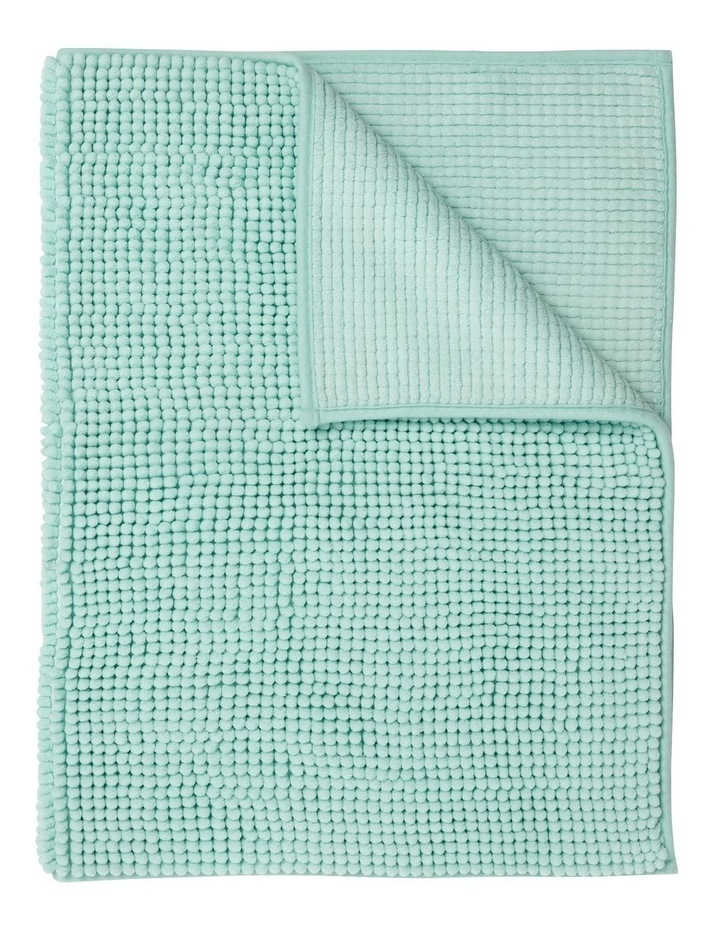Hampton Super Soft Microfibre Range Bath Mat in Light Blue image 1