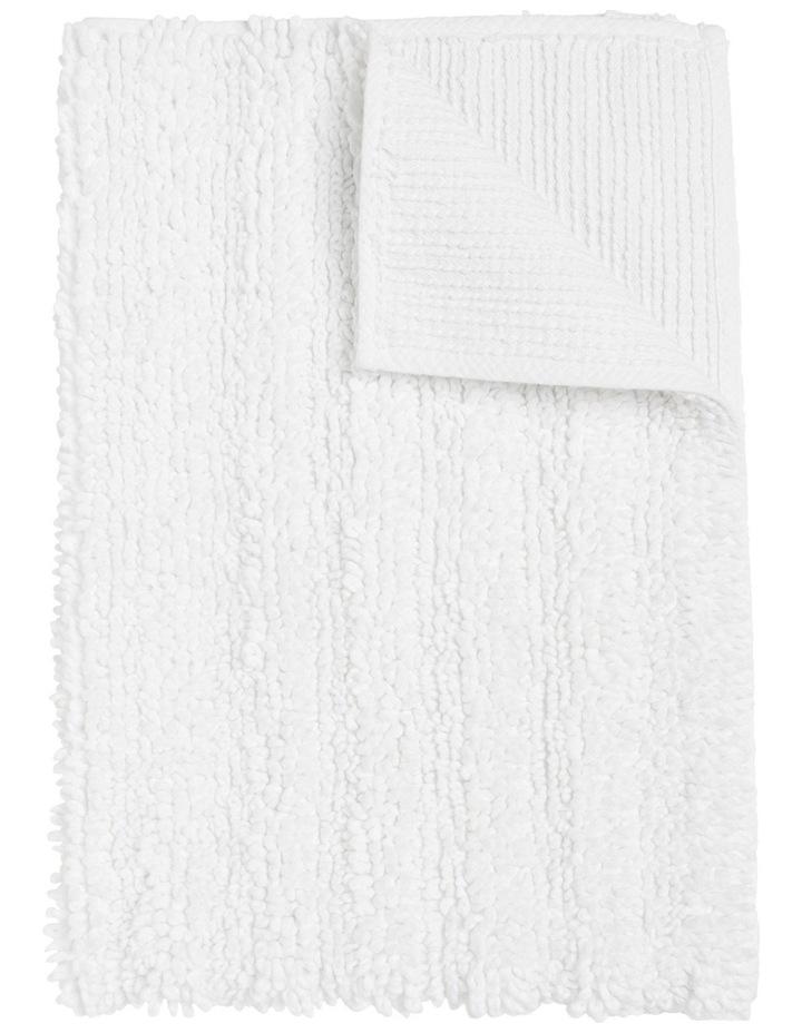 Kudu Oversized Bath Mat in White image 1