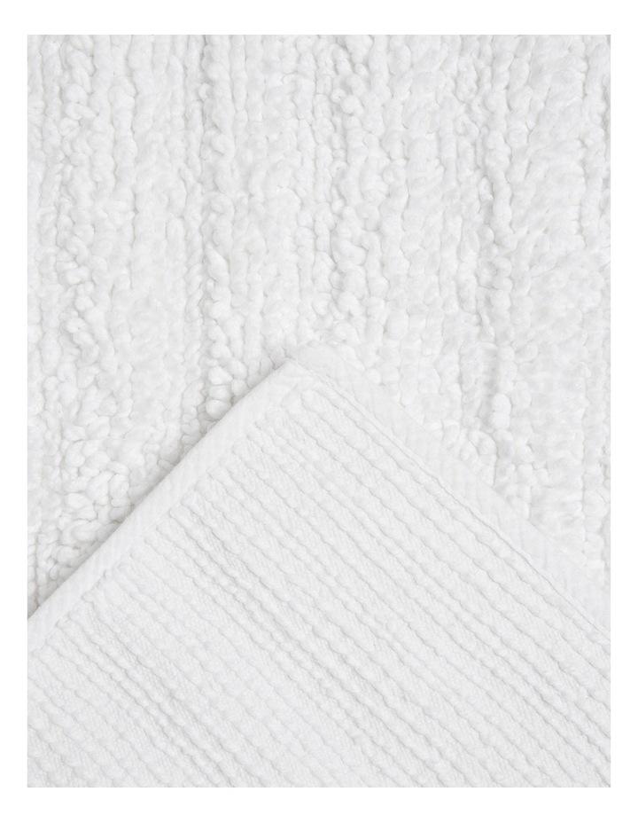 Kudu Oversized Bath Mat in White image 2