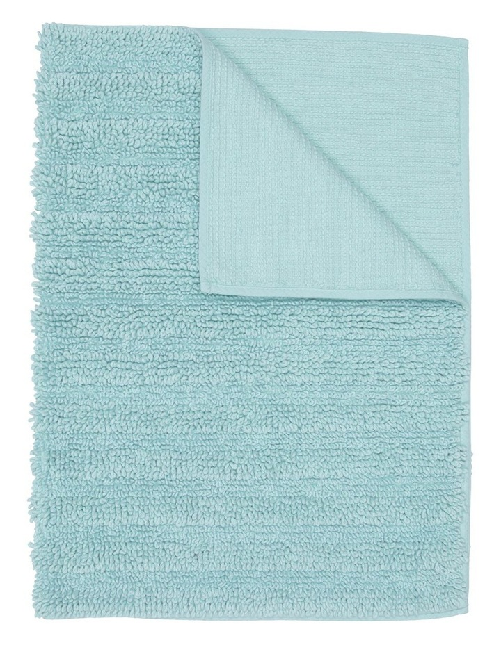 Kudu Oversized Bath Mat in Aqua image 1