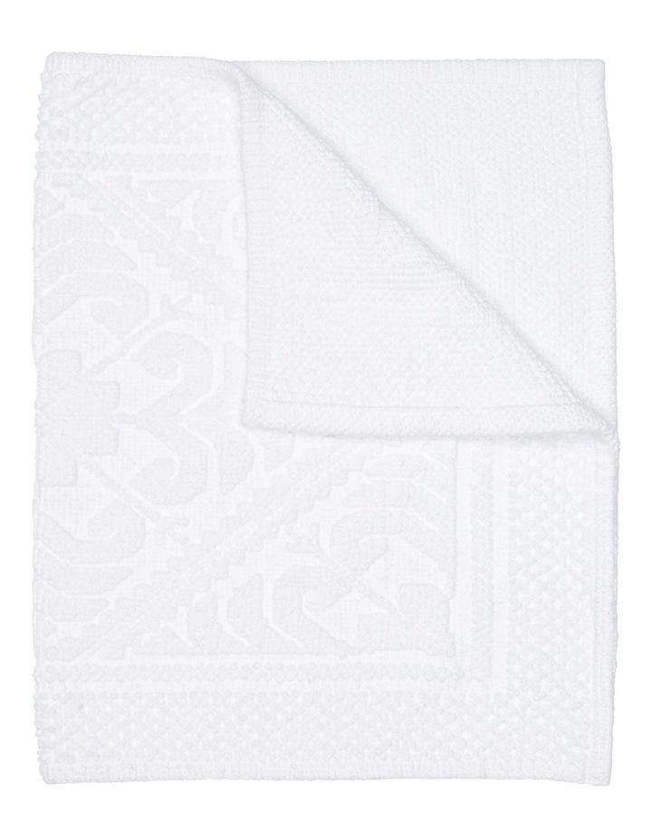 Adeline Floral Tile Cotton Jacquard Bath Mat image 1