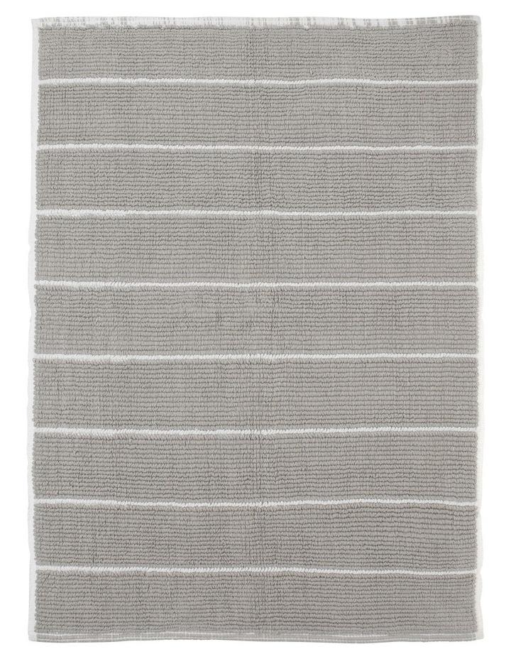 Lorne Reversible Stripe Woven Cotton Oversized Bath Mat image 1
