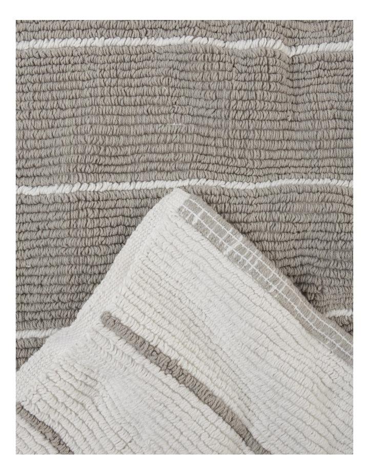 Lorne Reversible Stripe Woven Cotton Oversized Bath Mat image 2