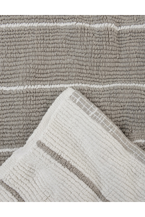 Australian House & Garden - Lorne Reversible Stripe Woven Cotton Oversized Bath Mat