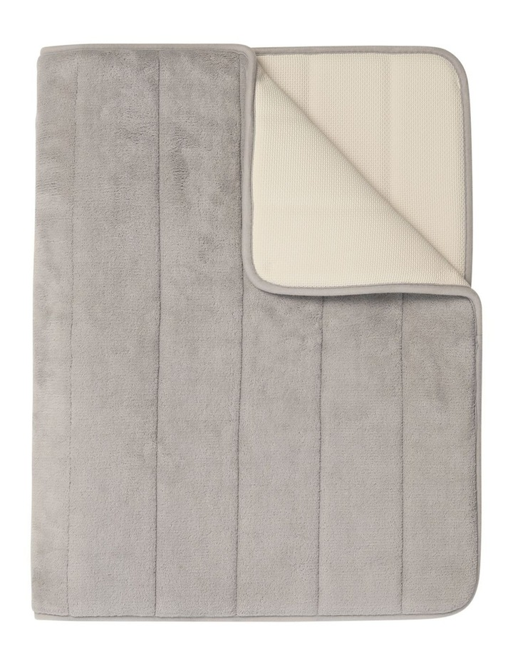 Madeline Memory Foam Bath Stripe Mat in Chateau Grey image 1