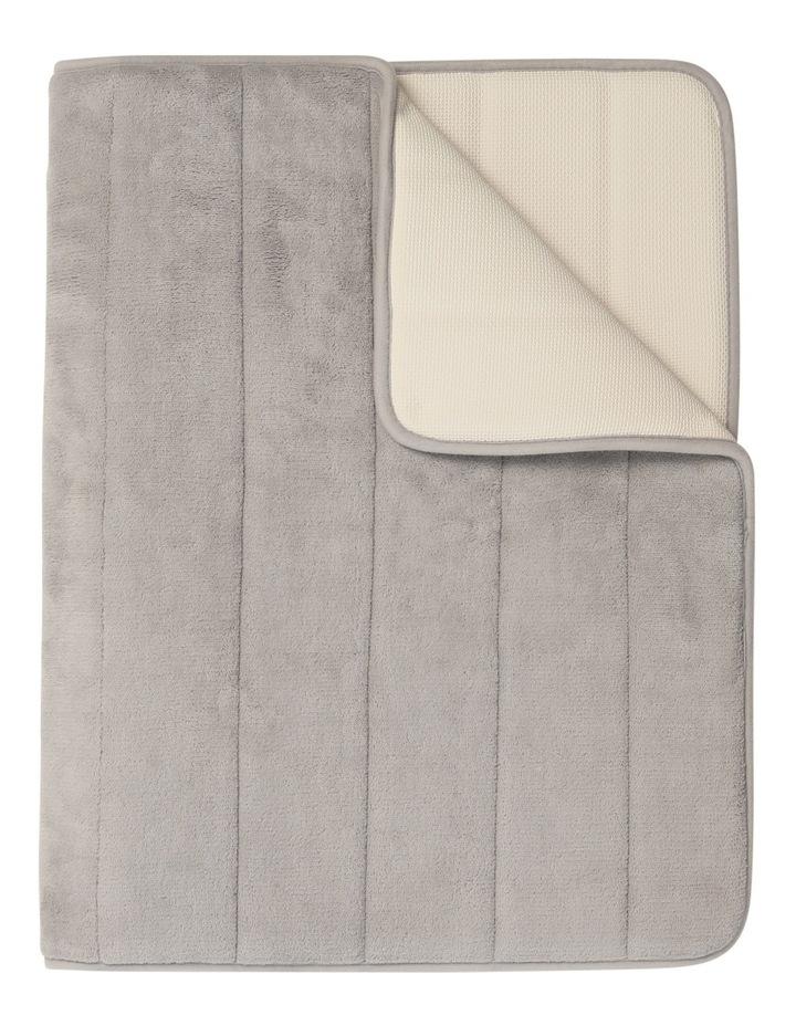 Madeline Memory Foam Bath Stripe Mat in Chateau Grey image 1