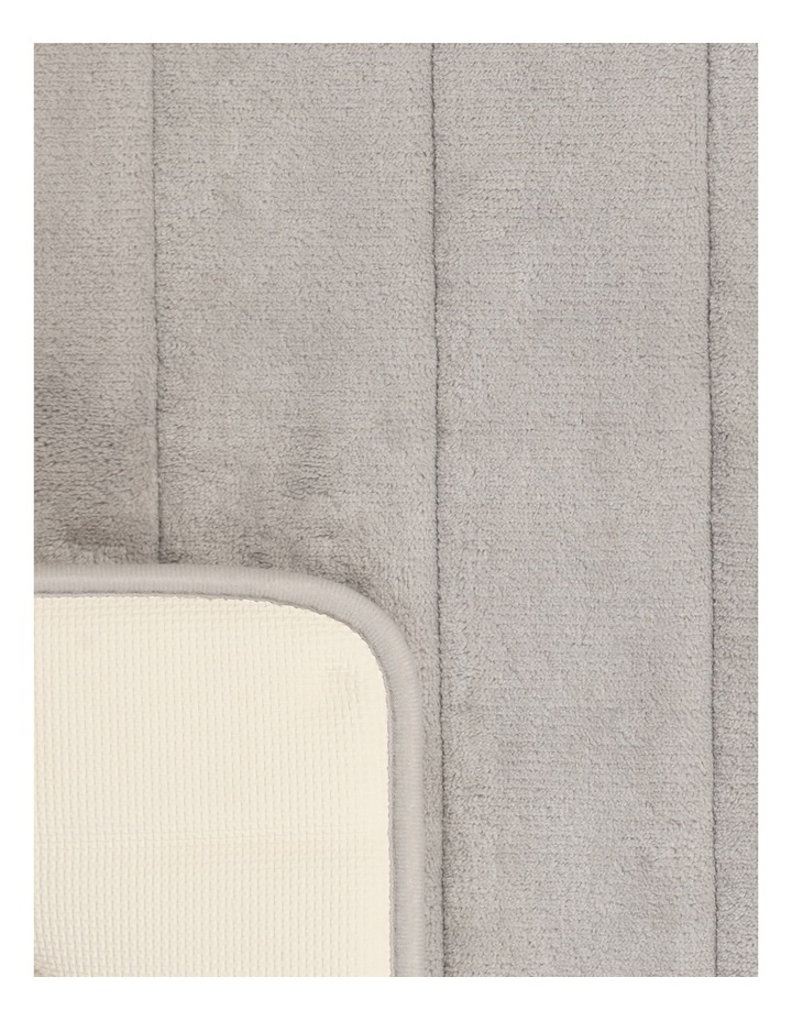 Madeline Memory Foam Bath Stripe Mat in Chateau Grey image 2