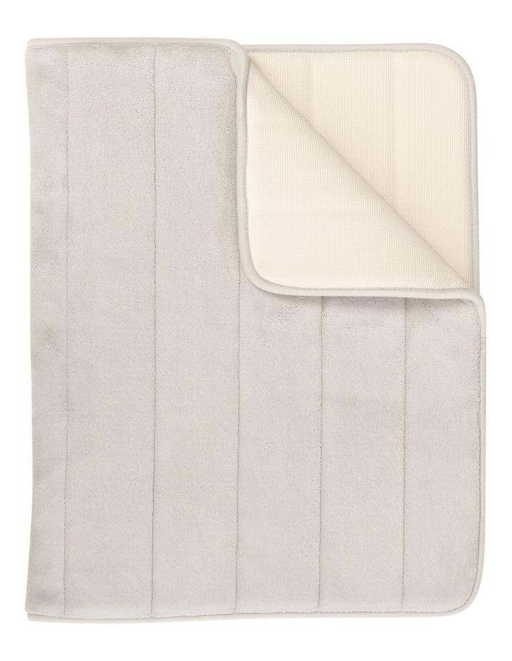 Madeline Memory Foam Stripe Bath Mat in Oyster image 1