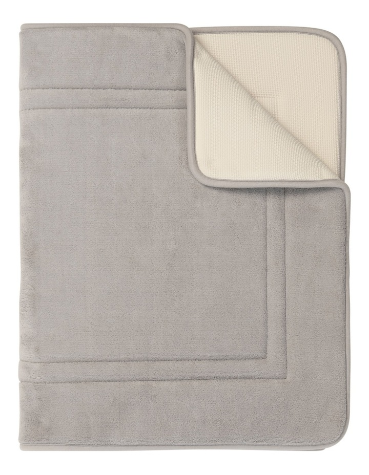 Madeline Memory Foam Bath Mat in Chateau Grey image 1