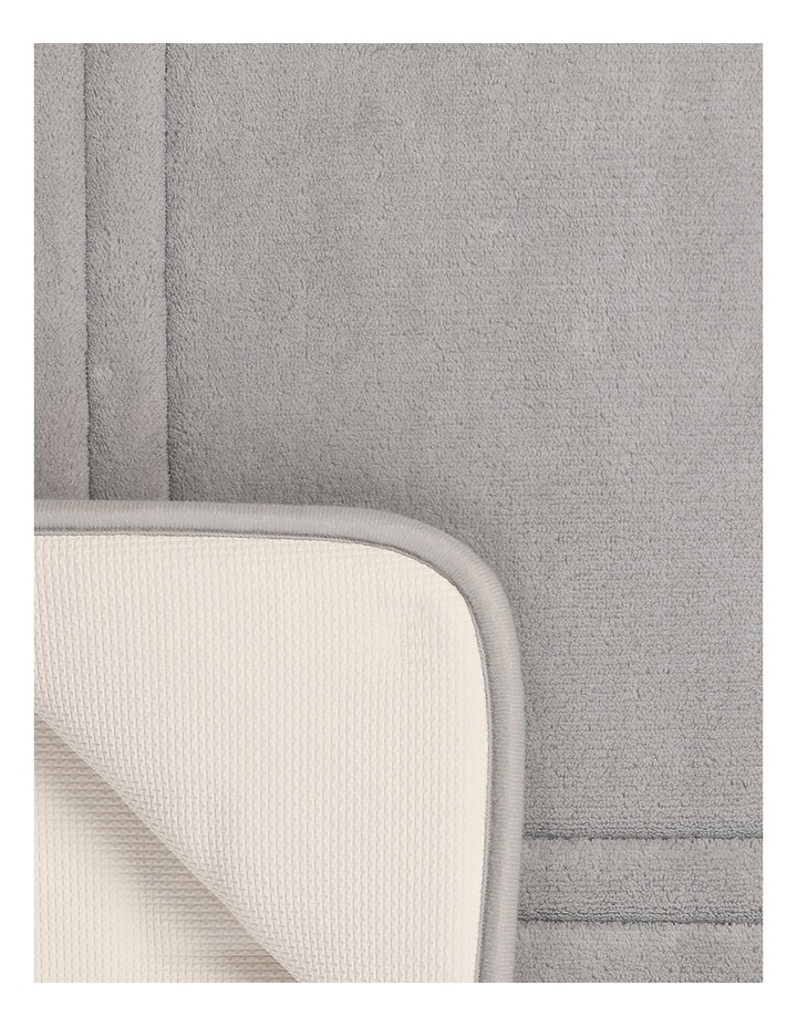 Madeline Memory Foam Bath Mat in Chateau Grey image 2