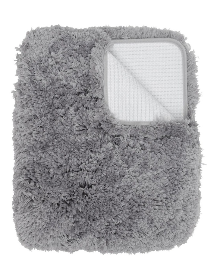 Valence Shaggy Bath Mat in Charcoal image 1