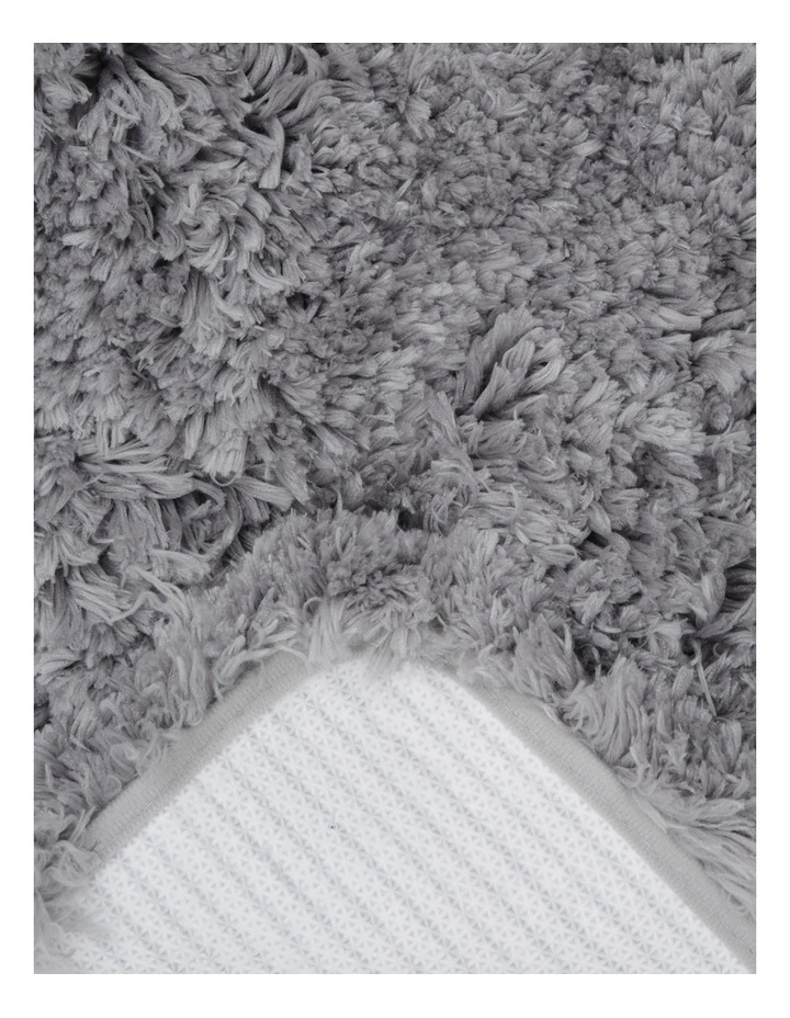 Valence Shaggy Bath Mat in Charcoal image 2