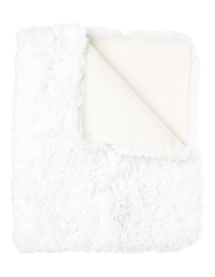 Valence Shaggy Bath Mat in Cream image 1