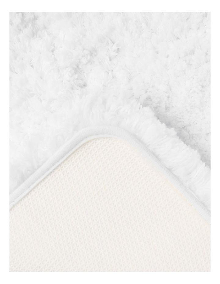 Valence Shaggy Bath Mat in Cream image 2