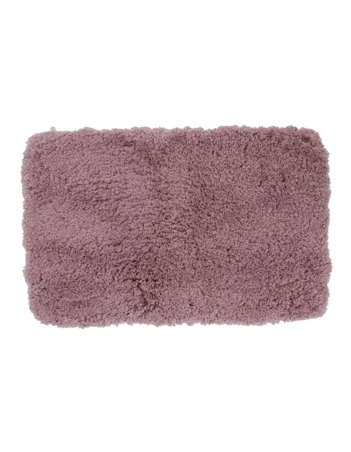 Valence Shaggy Bath Mat in Pink image 1