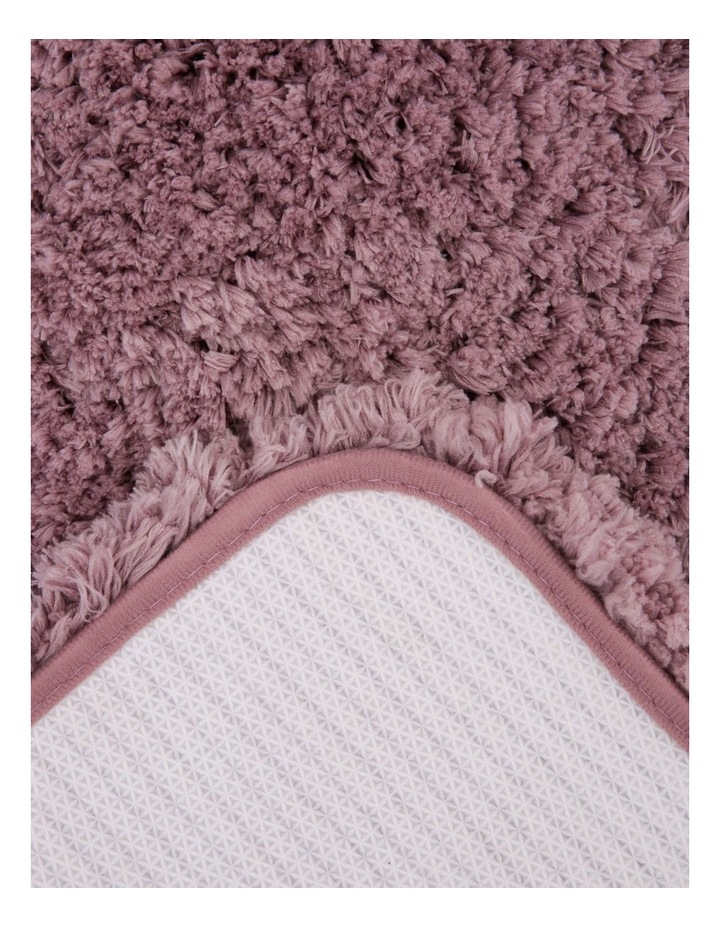Valence Shaggy Bath Mat in Pink image 2