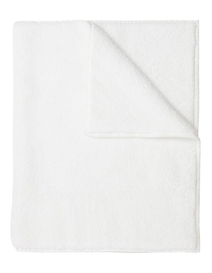 Manarola Turkish Cotton Bath Mat in White image 1