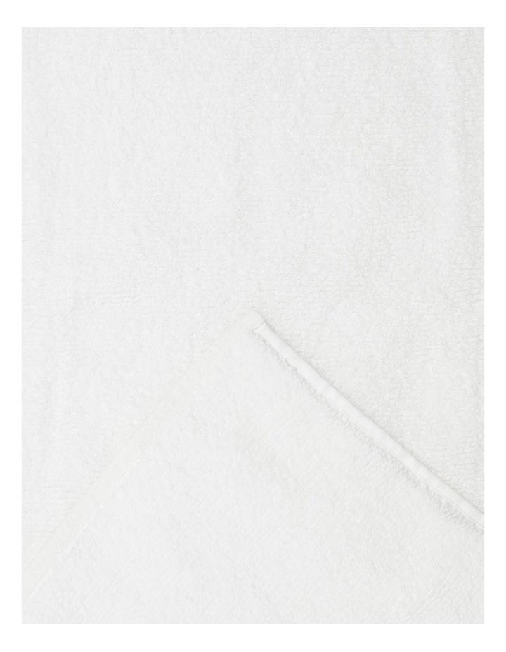 Manarola Turkish Cotton Bath Mat in White image 2