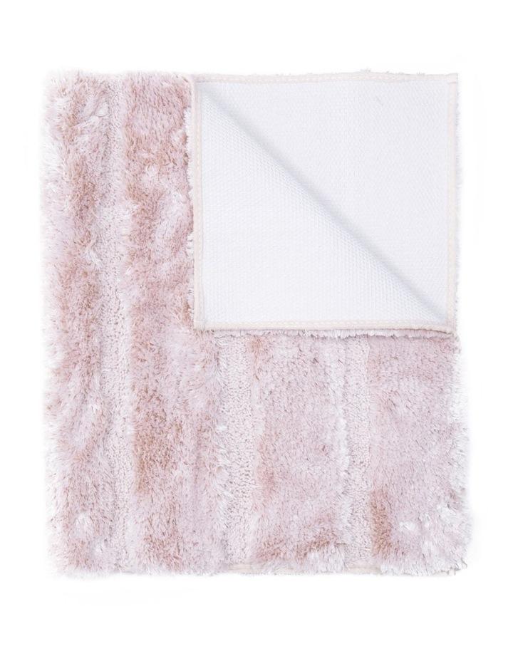 Disegno Tufted Bath Mat: Peach image 1