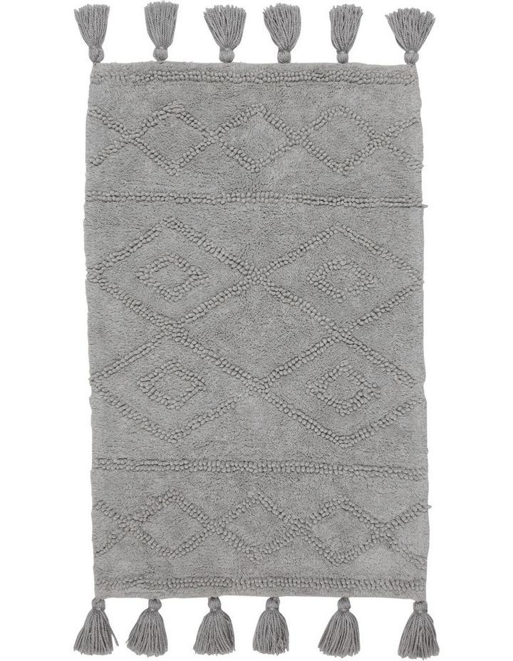 Krabi Cotton Bathmat in Silver image 1