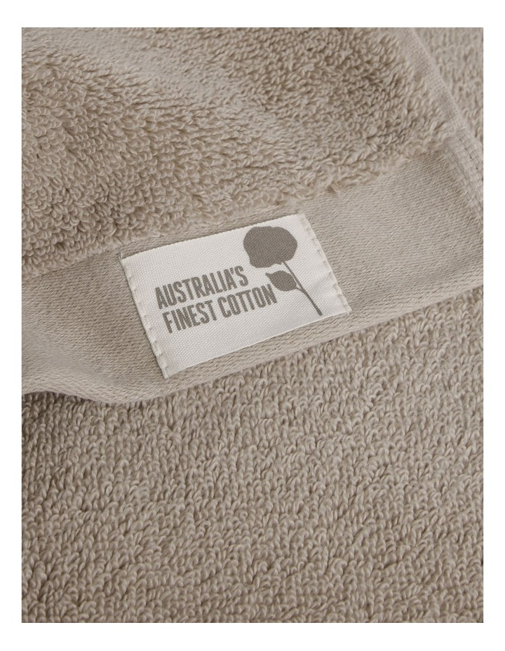 Australian Cotton Towel Range in Stone image 3