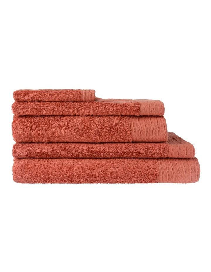 Organic Towel Range in Brick image 1