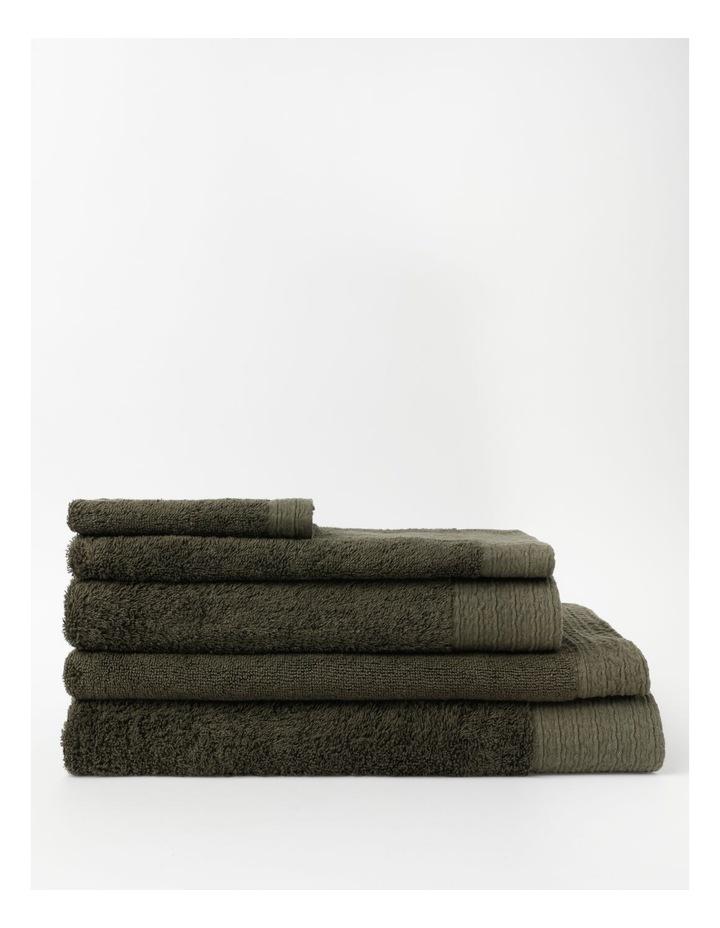 Organic Towel Range in Olive image 1