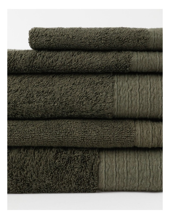 Organic Towel Range in Olive image 2