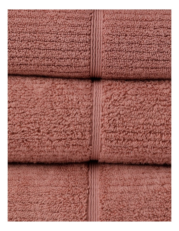 Combed Cotton Ribbed Towel Range In Pink Clay image 2